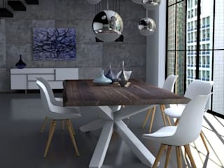 Jadalnia w lofcie: styl , w kategorii Jadalnia zaprojektowany przez Le Pukka Concept Store