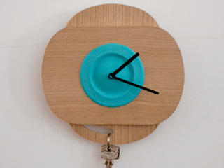 Blue  PLA color +Oak Wood  (with 90º rotation):   por Suricata Design Studio