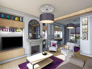 Vue depuis salon: Salon de style de style Industriel par Julie Cochez Design d'Espace