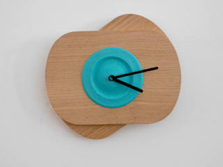 Blue  PLA color +Oak Wood  (without rotation):   por Suricata Design Studio