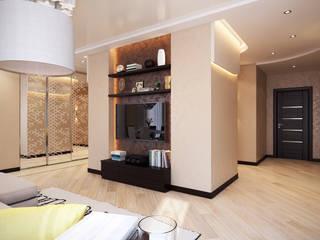Проект 012: дизайн современной квартиры: Гостиная в . Автор – студия визуализации и дизайна интерьера '3dm2', Минимализм