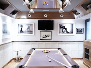 The Bat Cave, Holland Park Modern Media Room by Rousseau Modern