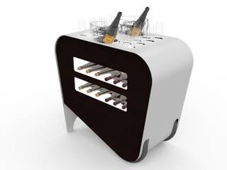 Carrello porta bottiglie vino dal design moderno Esigo:  in stile  di Esigo SRL