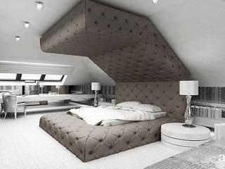 ARTDESIGN architektura wnętrz Dormitorios de estilo moderno Beige