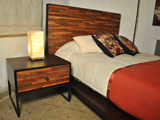 Segusino Muebles Condesa BedroomBedside tables Wood Wood effect
