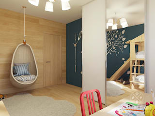 Chambre d'enfant originale par Мастерская дизайна Welcome Studio Éclectique