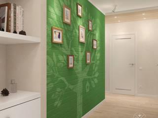 Skandinavischer Flur, Diele & Treppenhaus von Мастерская дизайна Welcome Studio Skandinavisch