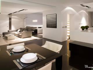Dom Sadyba Minimalistyczna jadalnia od Bartek Włodarczyk Architekt Minimalistyczny