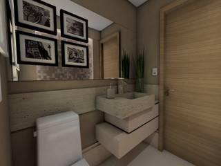 Projeto F & M: Banheiros  por Ricardo Cavichioni Arquitetura,