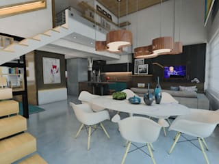Phòng ăn theo Ricardo Cavichioni Arquitetura,