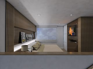 Bedroom by Ricardo Cavichioni Arquitetura,