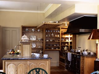 Kirtling Tower Limed Oak Kitchen designed and made by Tim Wood by Tim Wood Limited Eclectic