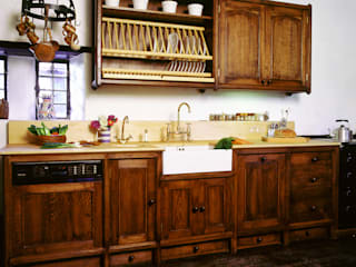 Heinz Dark Oak Kitchen designed and made by Tim Wood by Tim Wood Limited Eclectic