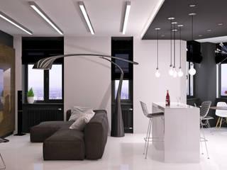 Salas de estar minimalistas por QUADRUM STUDIO Minimalista