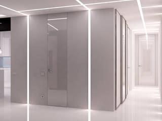 Corredores, halls e escadas minimalistas por QUADRUM STUDIO Minimalista