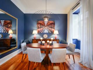 Sala de jantar em Lisboa Salas de jantar modernas por LAVRADIO DESIGN Moderno