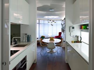 Compass Court Apartment Fitout, Tower Bridge Modern kitchen by graham ford architects Modern