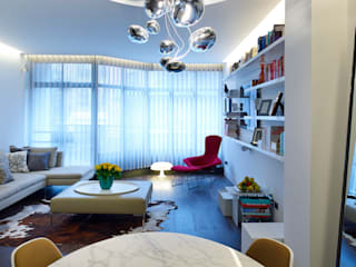Compass Court Apartment Fitout, Tower Bridge Modern living room by graham ford architects Modern