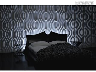 Wall panels 3D - Dunes Paredes y pisos de estilo moderno de DecoMania.pl Moderno