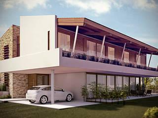 Casa Alphaville: Casas  por Martins Lucena Arquitetos,
