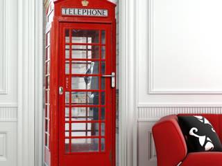 Crearreda Pencere & KapılarKapılar Ahşap-Plastik Kompozit Kırmızı
