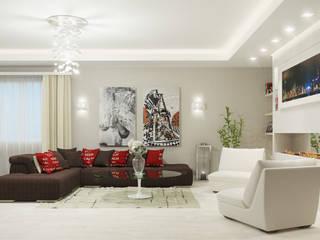 Жизнь за городом: Гостиная в . Автор – Art Style Design