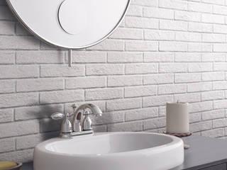 Effetto mattoncino, colore silver:  in stile  di Ceramica Rondine