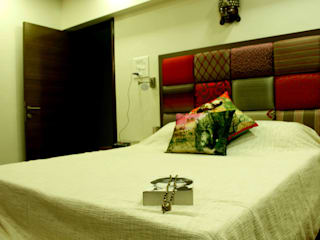 Residence at Raheja, Powai Asian style bedroom by JRarchitects Asian