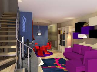 Interni a Bastia Umbra - Interiors in Bastia Umbra Soggiorno moderno di Planet G Moderno