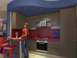Interni a Bastia Umbra - Interiors in Bastia Umbra Cucina moderna di Planet G Moderno