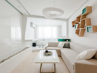 Михаил Новинский (MNdesign) Minimalist living room White
