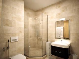 Квартира на Ленинградском шоссе: Ванные комнаты в . Автор – Михаил Новинский (MNdesign),