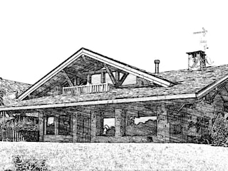 Rustic style houses by Manuel Monroy Pagnon, arquitecto Rustic