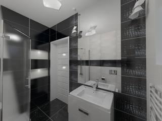 Katarzyna Wnęk 現代浴室設計點子、靈感&圖片 Black
