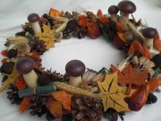 Tischkranz für den Herbst: rustikale Esszimmer von homify