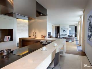 Apartament Narbutta Minimalistyczna kuchnia od Bartek Włodarczyk Architekt Minimalistyczny