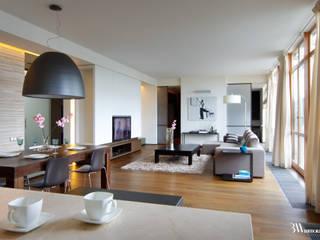 Apartament Narbutta Minimalistyczny salon od Bartek Włodarczyk Architekt Minimalistyczny