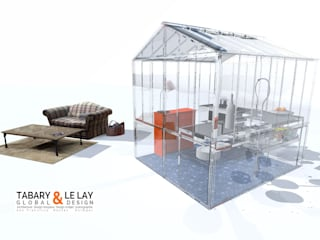 ​The invisible small greenhouse Nantes Frédéric TABARY KitchenBench tops Bahan Sintetis Transparent