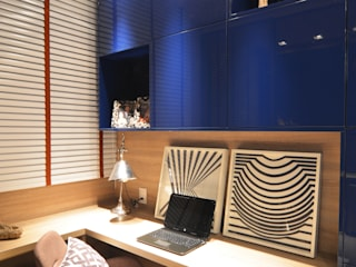 Modern Study Room and Home Office by ANNA MAYA ARQUITETURA E ARTE Modern Wood Wood effect