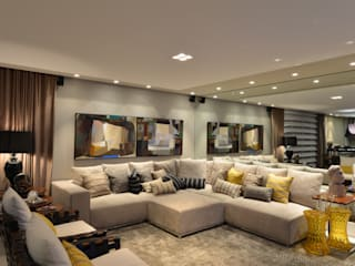 ANNA MAYA ARQUITETURA E ARTE 现代客厅設計點子、靈感 & 圖片 布織品 Beige