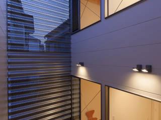 Balkon, Beranda & Teras Minimalis Oleh U建築設計室 Minimalis