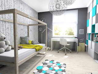 Modern Kid's Room by Architekt wnętrz Klaudia Pniak Modern