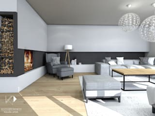 Modern Living Room by Architekt wnętrz Klaudia Pniak Modern