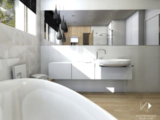 Scandinavian style bathroom by Architekt wnętrz Klaudia Pniak Scandinavian