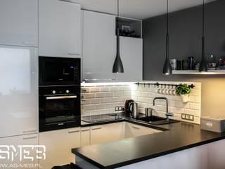 Кухня в скандинавском стиле от AS-MEB Скандинавский МДФ
