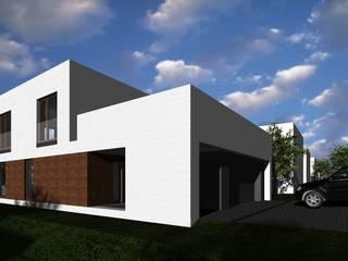 Katowice Dom Modernistyczny: styl , w kategorii  zaprojektowany przez ŁUKASZ ŁADZIŃSKI ARCHITEKT