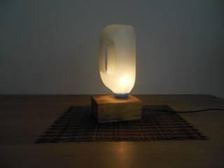 Tisch/Bodenlampe ! Upcycling!:   von Holzsteinkunstobjekte
