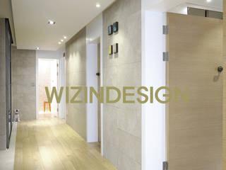wizingallery Modern corridor, hallway & stairs