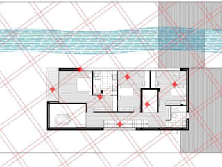 Geobiologia vivienda unifamiliar 1: Dormitorios de estilo  de Glaria Estudio Arquitectura SL