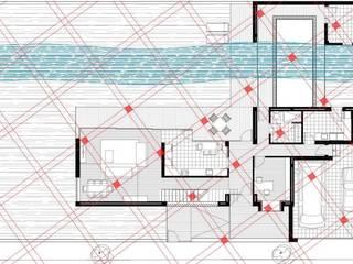 Geobiologia vivienda unifamiliar 2: Salones de estilo  de Glaria Estudio Arquitectura SL